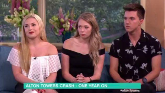 Alton Towers victims Vicky Balch, Leah Washington and Joe