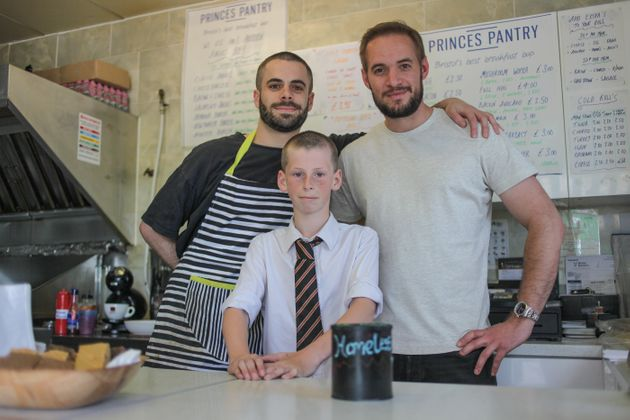 Hamish, centre, with Nuw Allen, left and Matt Allen, right, of the Princes Pantry