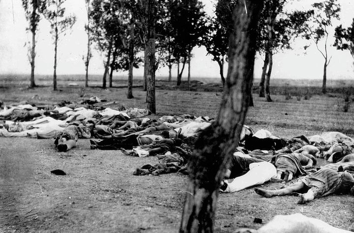 Armenians killed by Ottoman Turks during the Armenian Genocide in 1915.