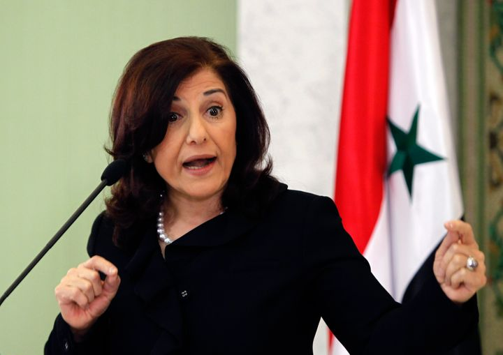 Bashar Assad spokeswoman Bouthaina Shaaban was invited to speak via Skype despite facing U.S. sanctions.