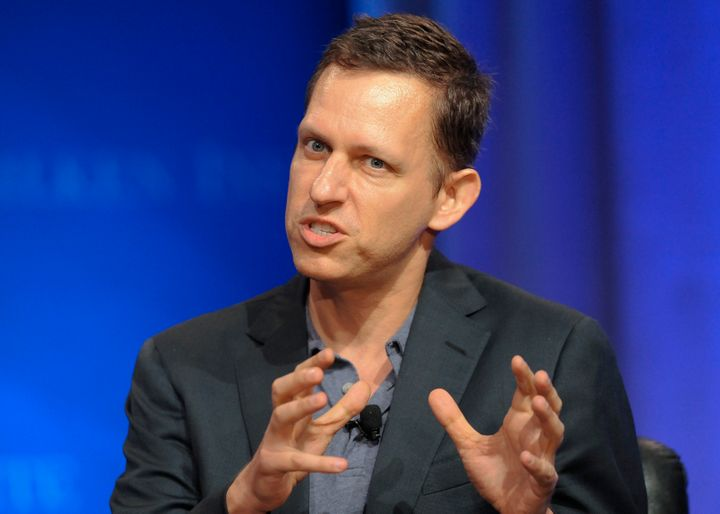 """Peter Thiel, partner of Founders Fund, takes part in a panel discussion titled """"When Past Performance Is a Guide: Using Histo"""