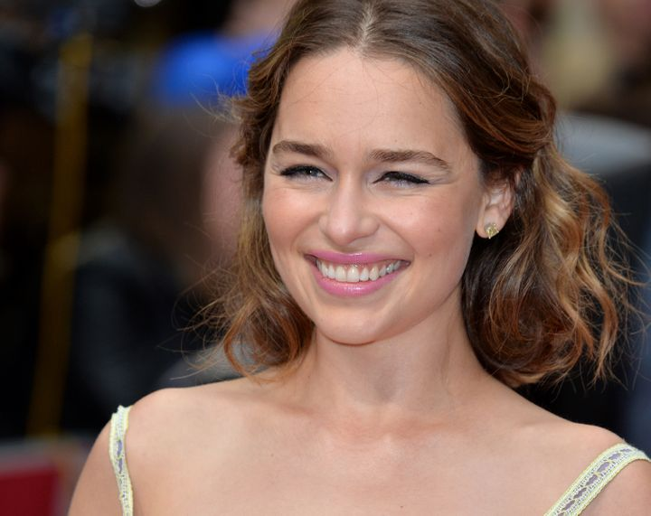 "Emilia Clarke attends the European film premiere for ""Me Before You"" on May 25, 2016, in London, England."