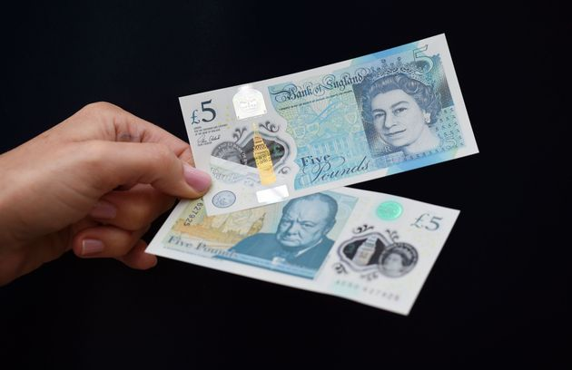 The new polymer £5 note featuring Sir Winston