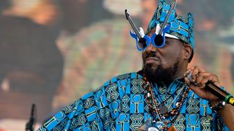 RIO DE JANEIRO, BRAZIL - SEPTEMBER 29:  Afrika Bambaataa during a concert in the Rock in Rio Festival on September 29, 2011 in Rio de Janeiro, Brazil. Rock in Rio Festival comes back to Brazil after ten years. (Photo by Mauro Pimentel/LatinContent/Getty Images)
