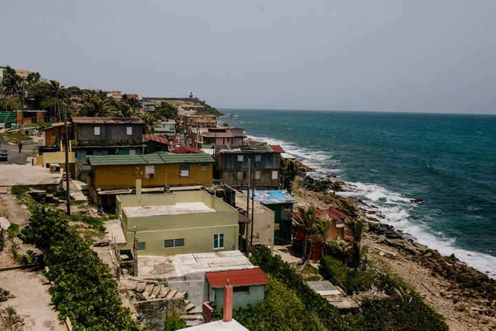 The La Perla shanty town is seen in the Old City of San Juan, Puerto Rico. A debtcrisis has strangled the island's econ