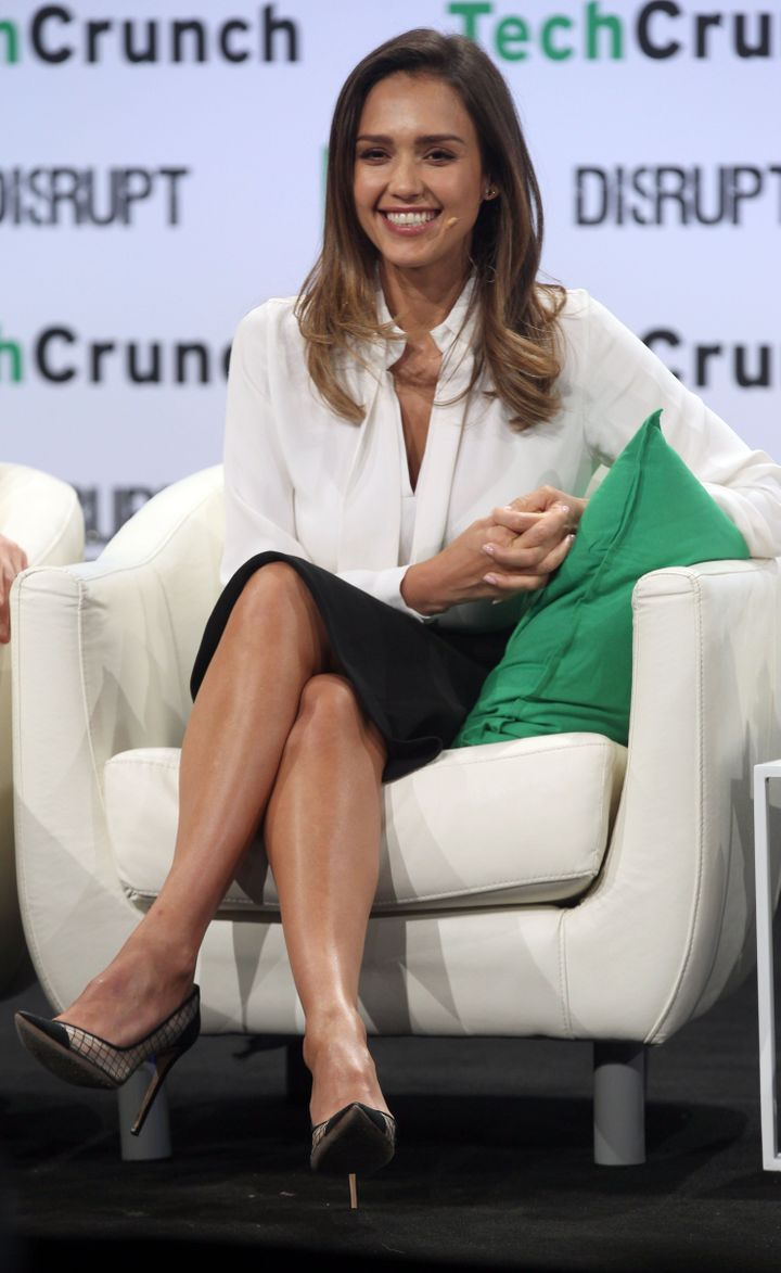 Jessica Alba discusses her business model for TheHonest Company at TechCrunch in May 2016.