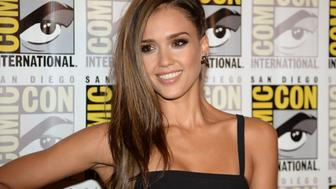 Actress Jessica Alba attends the press line for ' Frank Miller's Sin City: A Dame To Kill For' on the third day of the 45th annual Comic-Con, in San Diego, California July 26, 2014 at the San Diego Convention Center .   AFP PHOTO / ROBYN BECK        (Photo credit should read ROBYN BECK/AFP/Getty Images)