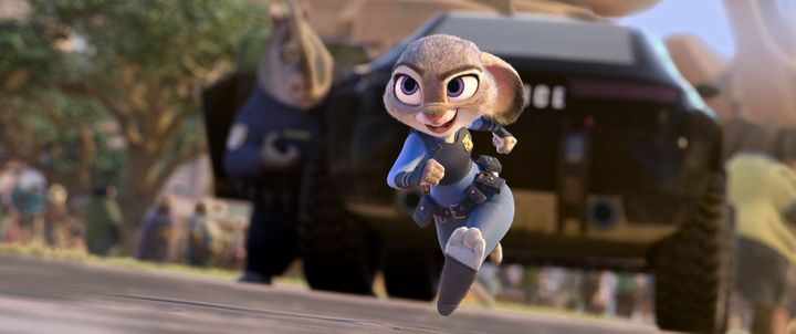 """Judy Hopps in """"Zootopia,"""" voiced by Ginnifer Goodwin."""