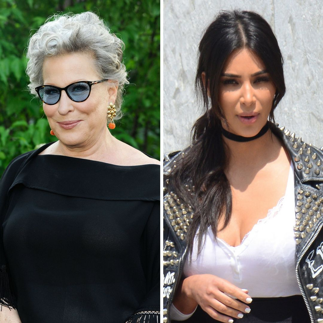 Bette Midler and the real Kim Kardashian.