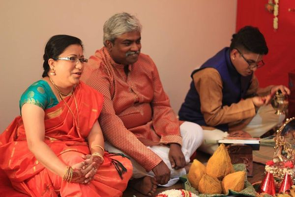 Salaphaty's parents before the rituals begin.