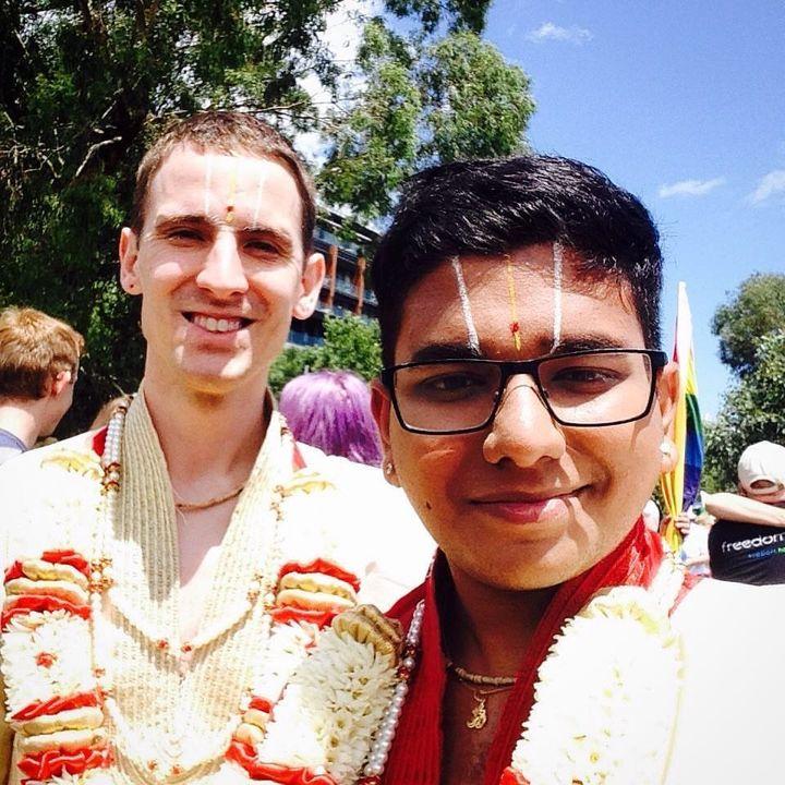 McCane and Rao at Melbourne Pride 2016.