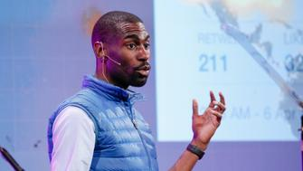 SAN FRANCISCO, CA - NOVEMBER 07:  DeRay Mckesson speaks at the GLAAD Gala at the Hilton San Francisco on November 7, 2015 in San Francisco, California.  (Photo by Kimberly White/Getty Images for GLAAD)