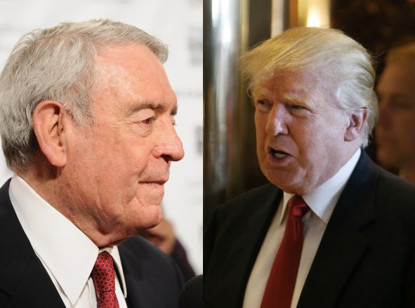 Legendary newsman Dan Rather lashed out against Donald Trump, who attacked the press for asking him basic questions about his