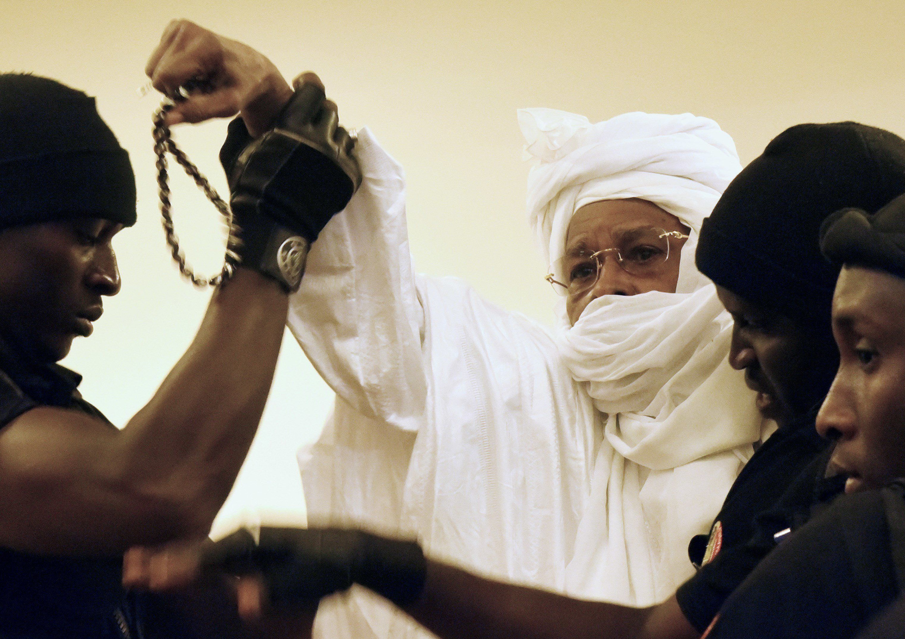 On the first day of his trial in 2015, Habré scuffledwith security guards and yelled at the judges. After that,