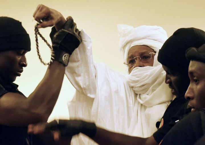 On the first day of his trial in 2015, Habré scuffled with security guards and yelled at the judges. After that,