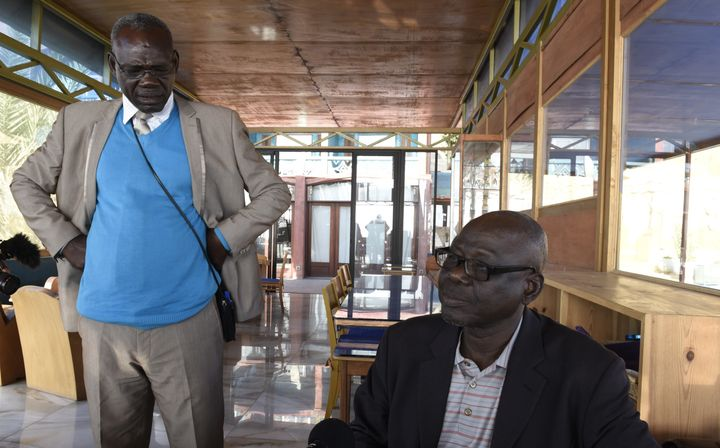 Souleymane Guengueng (right) and Clement Abai Fouta, two survivors of the Habré regime's torture, fought for
