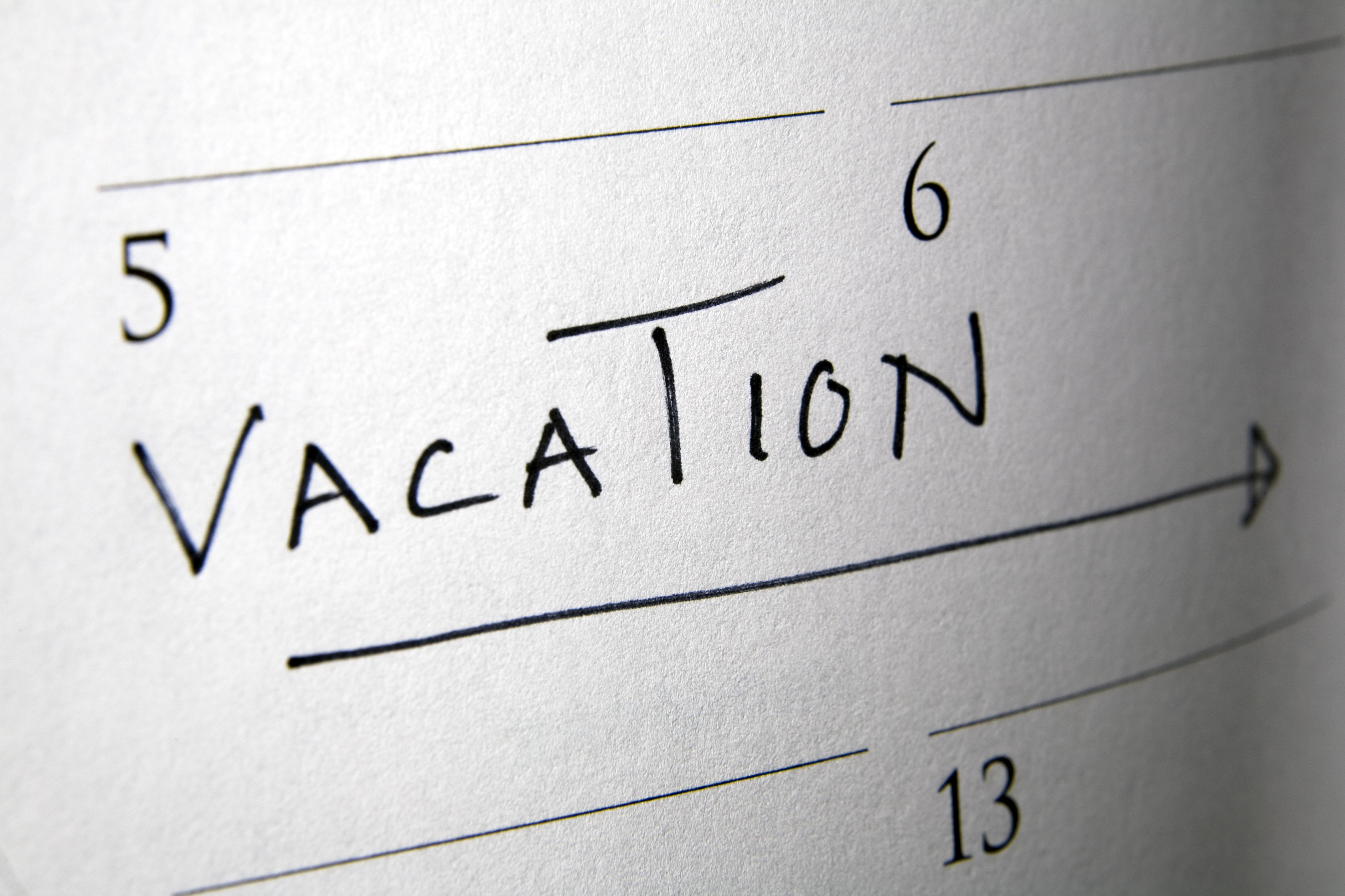 Notation in calendar.