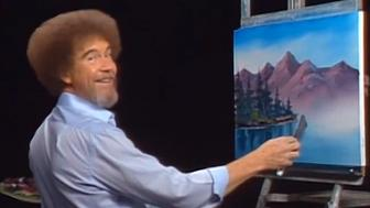Bob Ross hosted 'The Joy of Painting' on PBS.