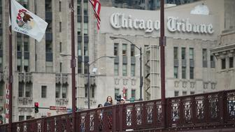 CHICAGO, IL - OCTOBER 08:  The Tribune Tower, home of the Chicago Tribune sits along Michigan Avenue at the Chicago River on October 8, 2015 in Chicago, Illinois. Tribune Media is reported to have hired a real estate investment banker to explore the sale of the Tower.  (Photo by Scott Olson/Getty Images)