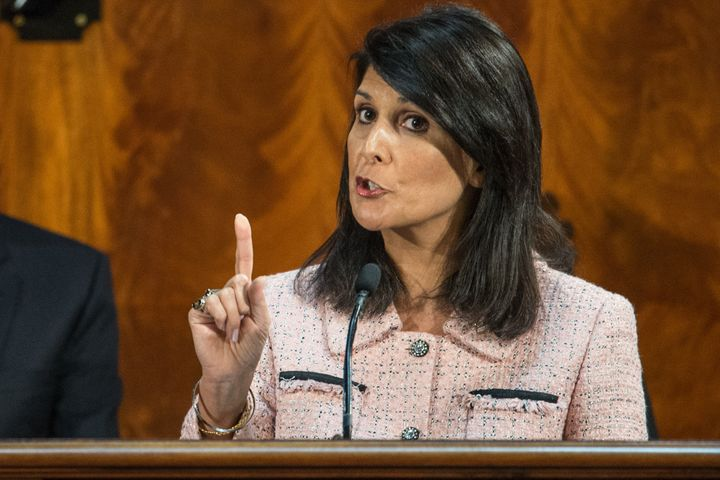 South Carolina Gov. Nikki Haley (R) warned that the type of rhetoric coming from Donald Trump can lead to violence.