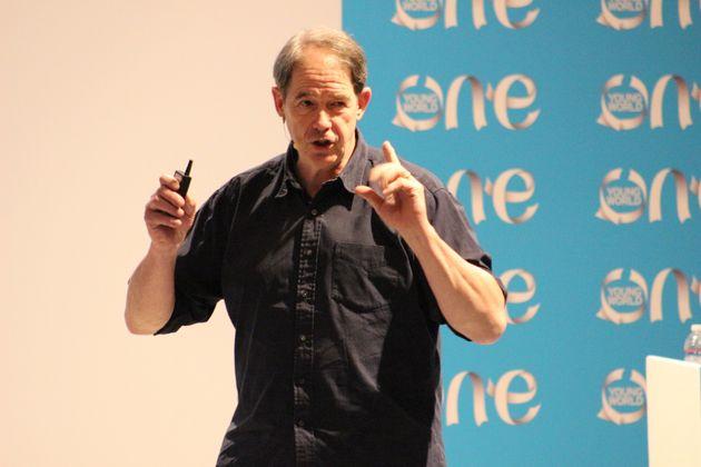 Sir Jonathon Porritt spoke at this year's One Young World environmental summit in Tucson,