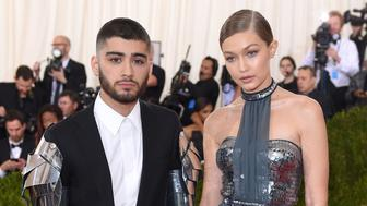 NEW YORK, NY - MAY 02:  Gigi Hadid and Zayn Malik arrive for the 'Manus x Machina: Fashion In An Age Of Technology' Costume Institute Gala at Metropolitan Museum of Art on May 2, 2016 in New York City.  (Photo by Karwai Tang/WireImage)