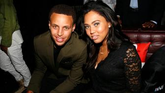 NEW YORK, NY - SEPTEMBER 21:  (L-R) Stephen Curry and Ayesha Curry attend the NBA 2K16 Premiere at Marquee on September 21, 2015, in New York City.  (Photo by Johnny Nunez/WireImage)