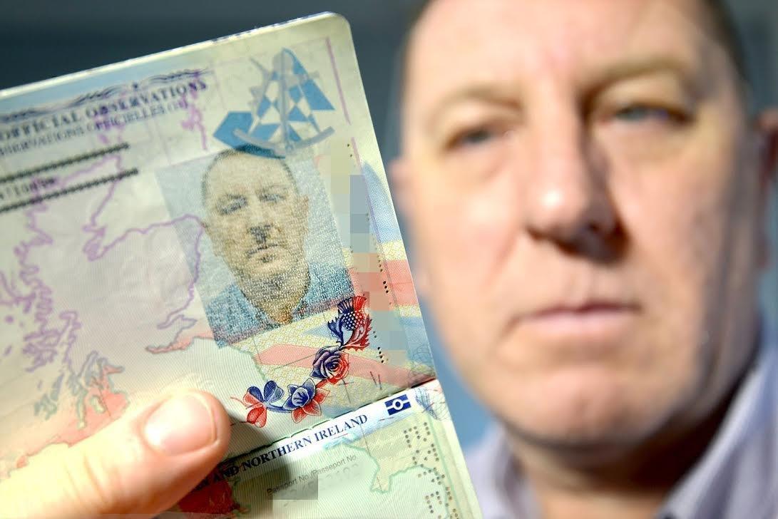 Hitler Passport Picture Leaves Salford Man Stuart Boyd