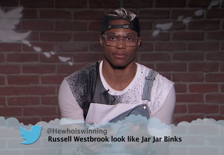 Classic Russell Westbrook reaction. He DGAF.<i></i>