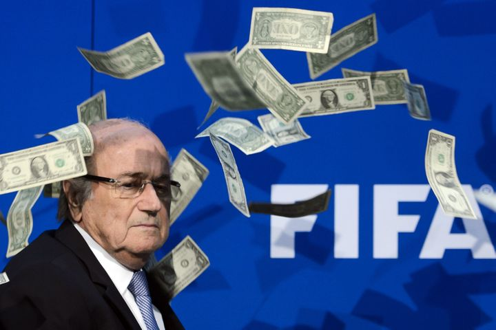 Sepp Blatter made it rain... Into his own bank account.