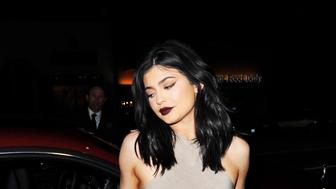 Kylie Jenner and Hailey Baldwin arrive at Nice Guy in West Hollywood, CA.