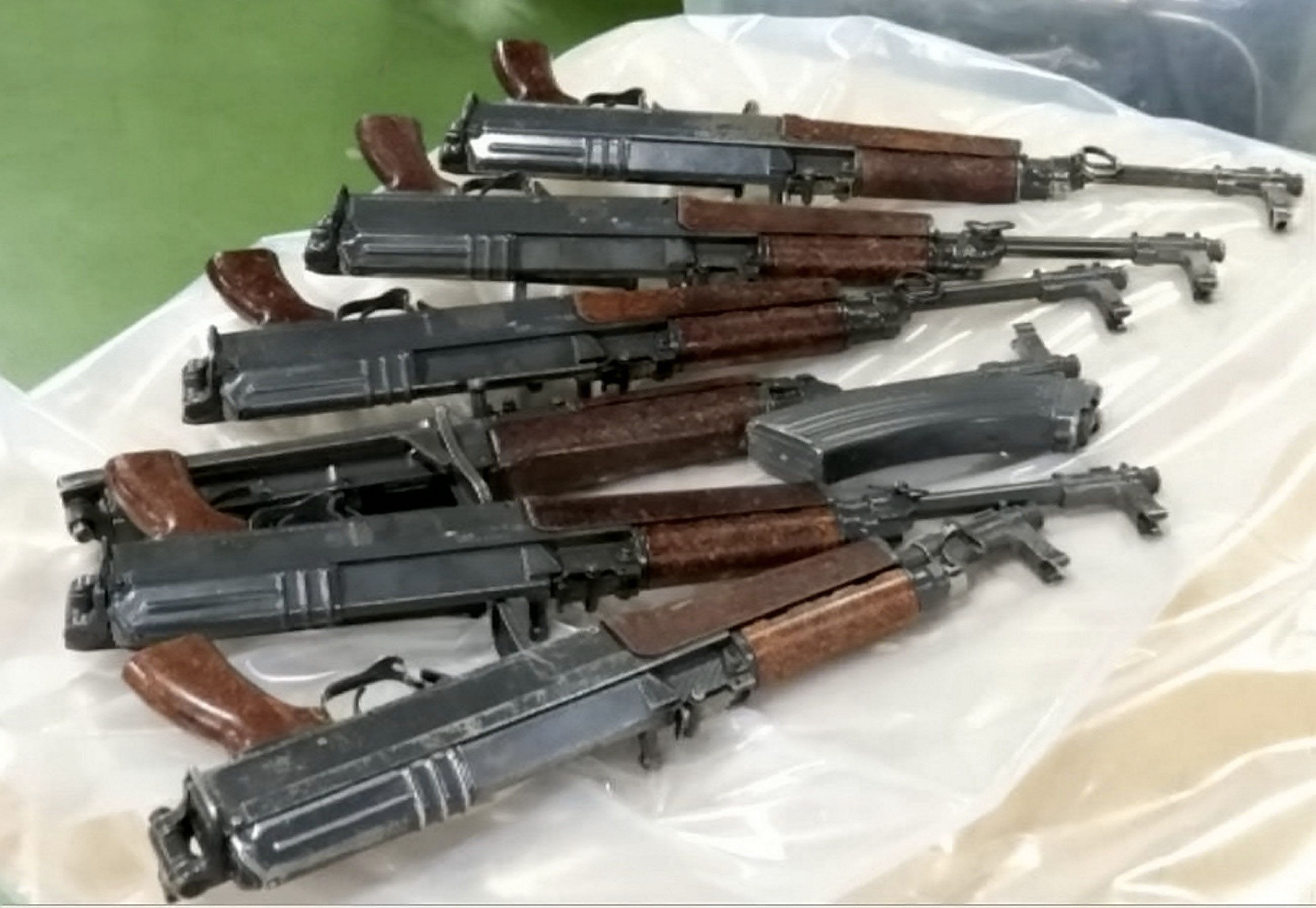 Some of the seized assault