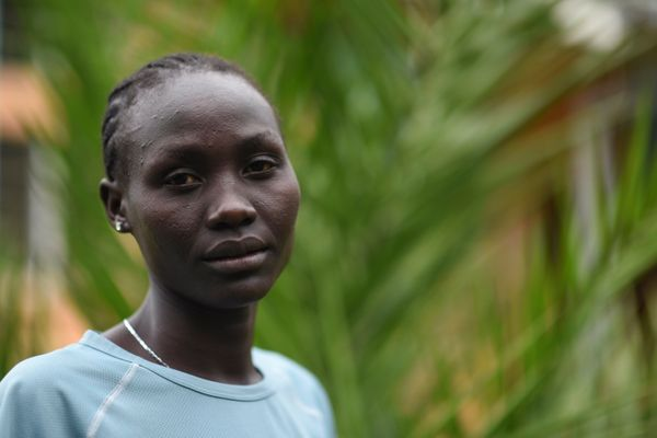 Lohalith, a refugee from South Sudan, will run the 1500-meter race at the 2016 games. She has not seen or spoken to