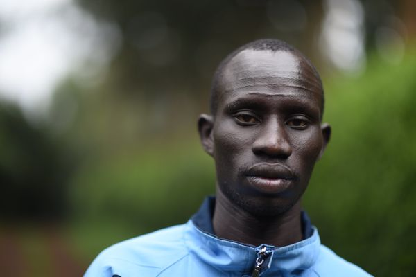 Chiengjiek is also a refugee from South Sudan living in Kenya, competing in the 800-meter race. He fled his ho