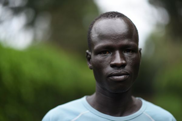 Forced to flee the fighting in southern Sudan in 2005, Biel ended up on his own in a refugee camp in northern Kenya. He start