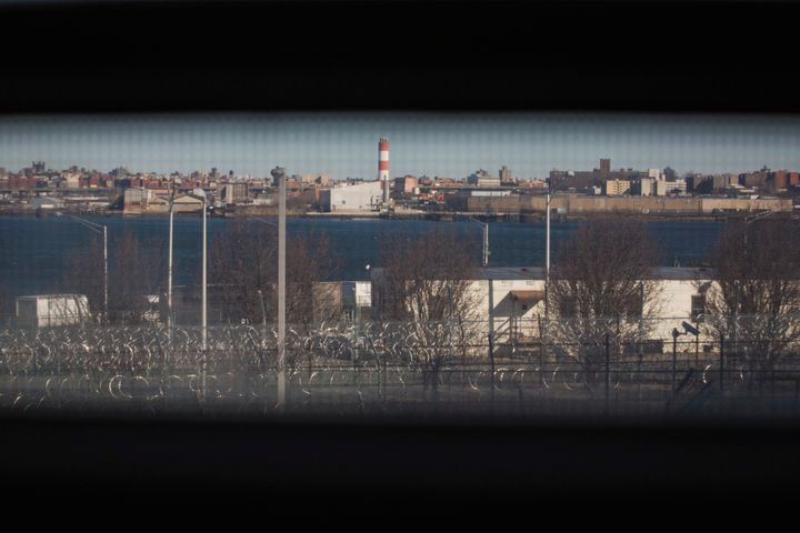 A view from a jail cell in the Enhanced Supervision Housing Unit at the Rikers Island Correctional facility in New York.