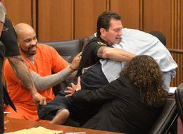 Father Of Murdered Girl Lunges For Her Killer At Sentencing