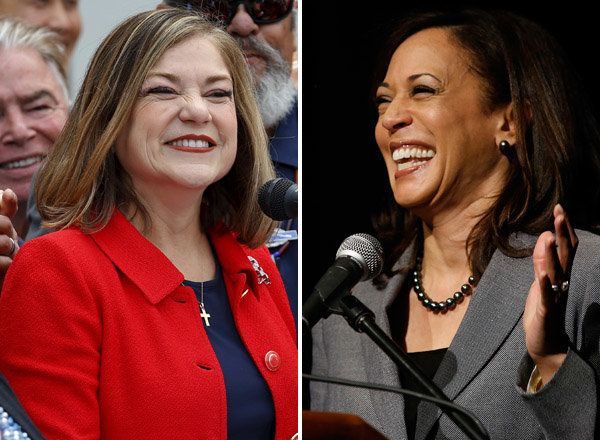 Rep. Loretta Sanchez (D-Calif.), left, and California Attorney General Kamala Harris (D), right, will advance to November's g