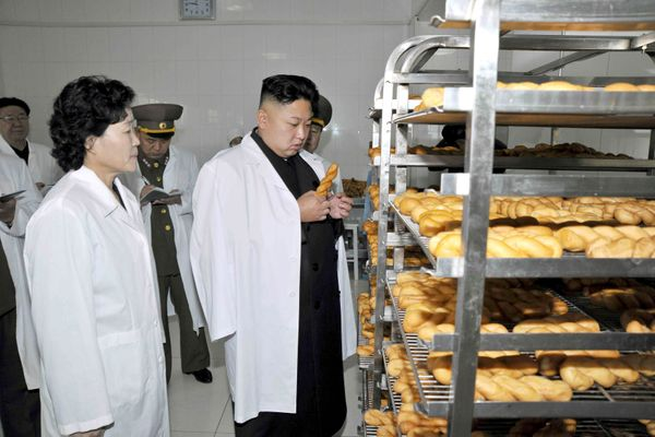At Foodstuff Factory No. 354 of the Korean People's Army in November of 2013.