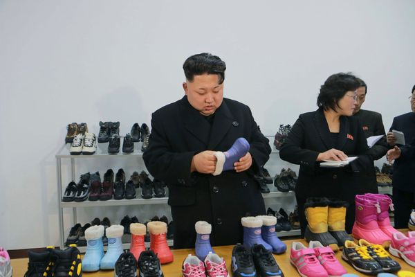 A visit to the Ryuwon Shoes Factory in January of 2015.