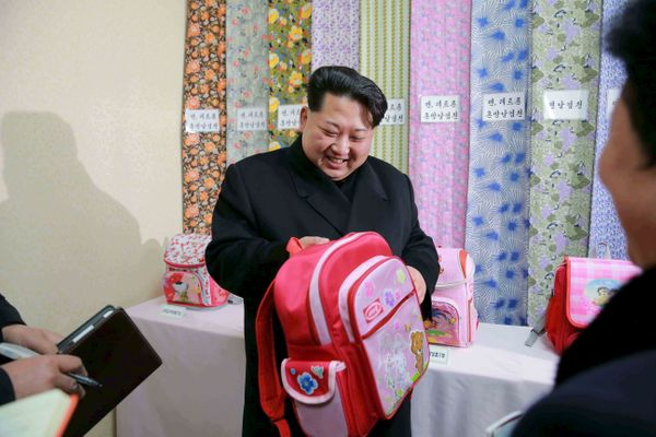 North Korean leader Kim Jong Un provides field guidance to the Kim Jong Suk Pyongyang Textile Mill in January of 2016.
