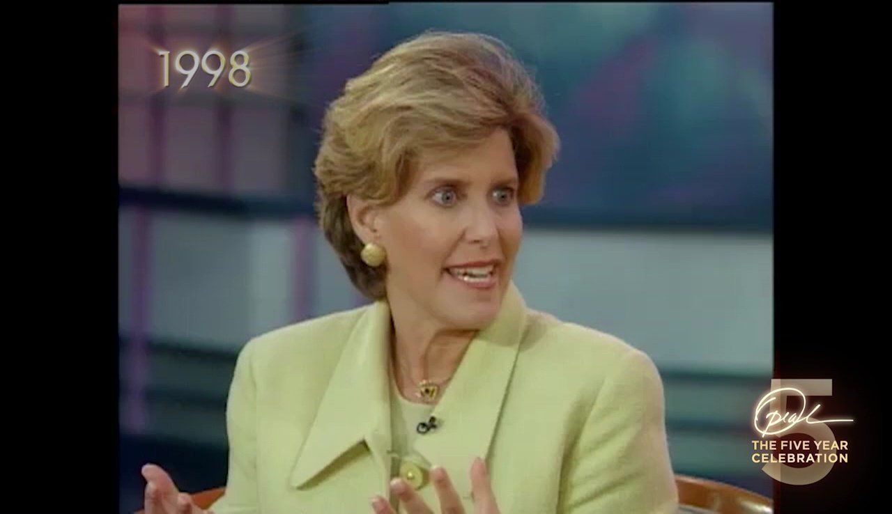 """Suze Orman says she was shaking and sweating during her first """"Oprah Show"""" appearance."""
