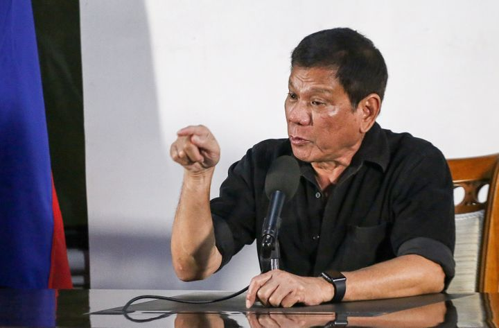 """You idiots do not threaten me,"" Rodrigo Duterte, president-elect of the Philippines, told the press on"