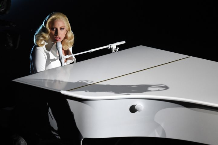 Lady Gaga performs during the 88th Annual Academy Awards.
