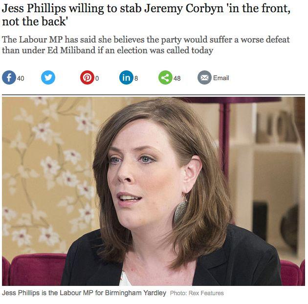 Jess Phillips Hilariously Explains The Whole 'Stabbing Jeremy Corbyn' Saga On 'Have I Got News For