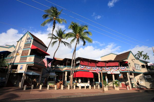 "Lahaina, Maui, is only <a href=""http://go-lanai.com/"" target=""_blank"">an hour ferry ride</a> from Manele Bay. Lively Front St"
