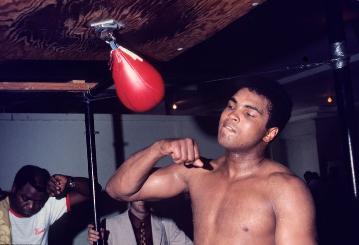 Ali couldn't legally fight, but he could still train.