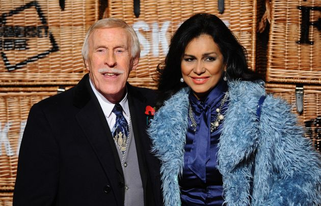 Bruce Forsyth with wife Wilnelia, who will be forced to go it alone on Wednesday due to her husband's...