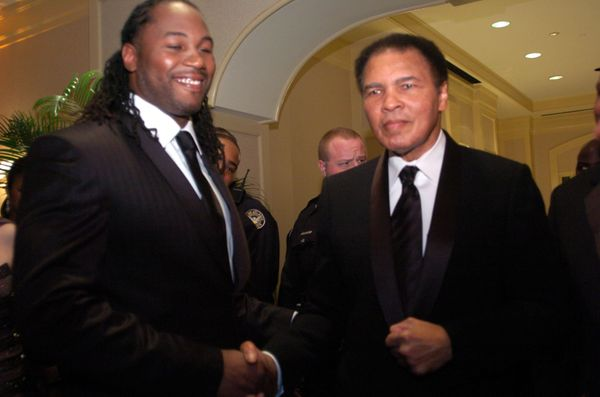 """Do I feel emotional when I am around him? No, not emotional, just honored to be in his presence. Muhammad Ali inspired"