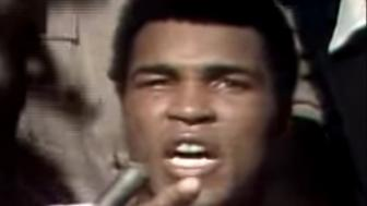 Muhammad Ali commands everyone at attention.